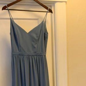 Bill Levkoff Chiffon Gown Slate